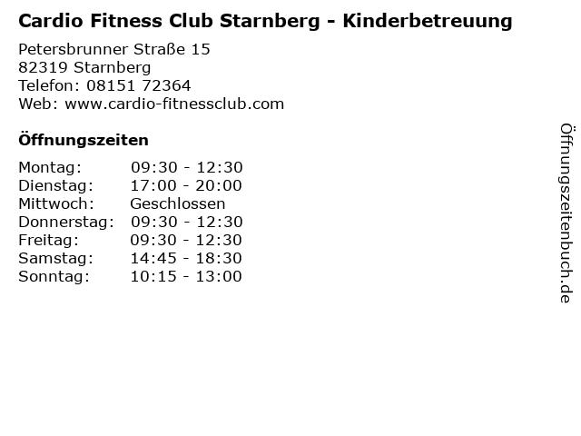 Cardio Fitness Club Starnberg - Kinderbetreuung in Starnberg: Adresse und Öffnungszeiten