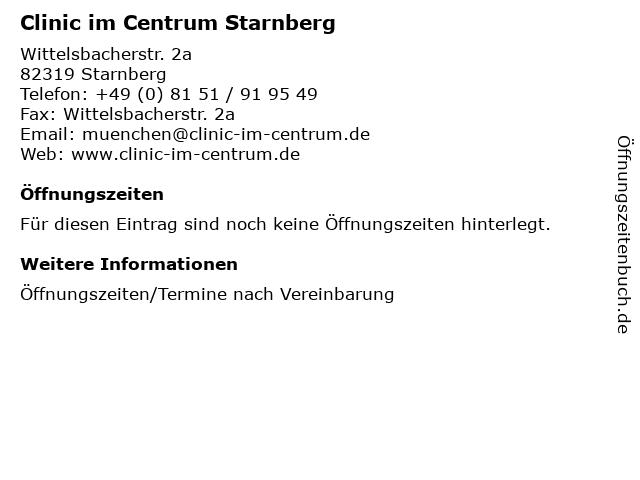 Clinic im Centrum Starnberg in Starnberg: Adresse und Öffnungszeiten