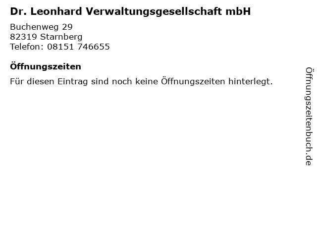 Dr. Leonhard Verwaltungsgesellschaft mbH in Starnberg: Adresse und Öffnungszeiten