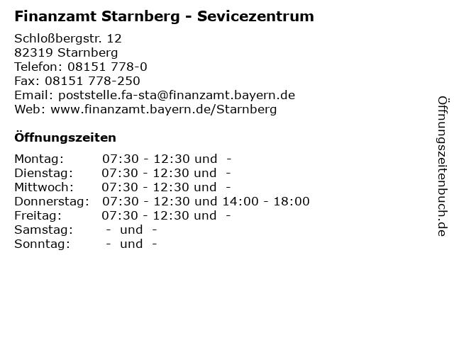 Finanzamt Starnberg - Sevicezentrum in Starnberg: Adresse und Öffnungszeiten