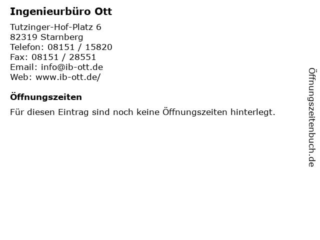 Ingenieurbüro Ott in Starnberg: Adresse und Öffnungszeiten