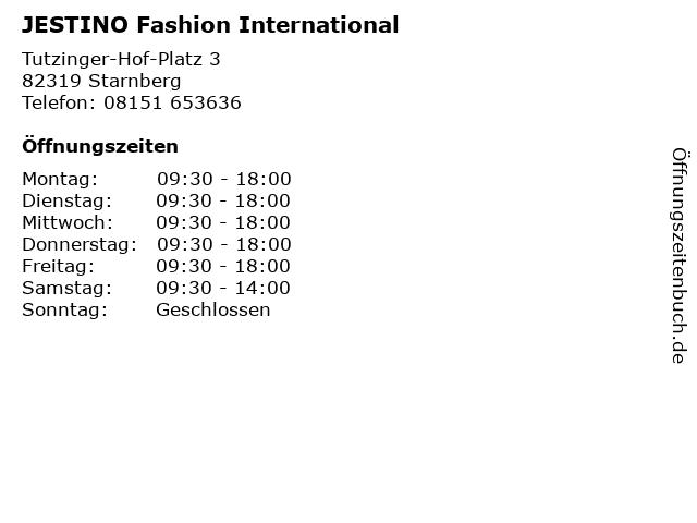 JESTINO Fashion International in Starnberg: Adresse und Öffnungszeiten