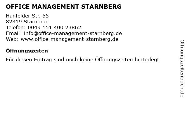 OFFICE MANAGEMENT STARNBERG in Starnberg: Adresse und Öffnungszeiten