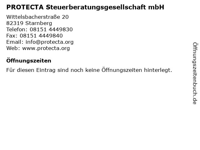 PROTECTA Steuerberatungsgesellschaft mbH in Starnberg: Adresse und Öffnungszeiten