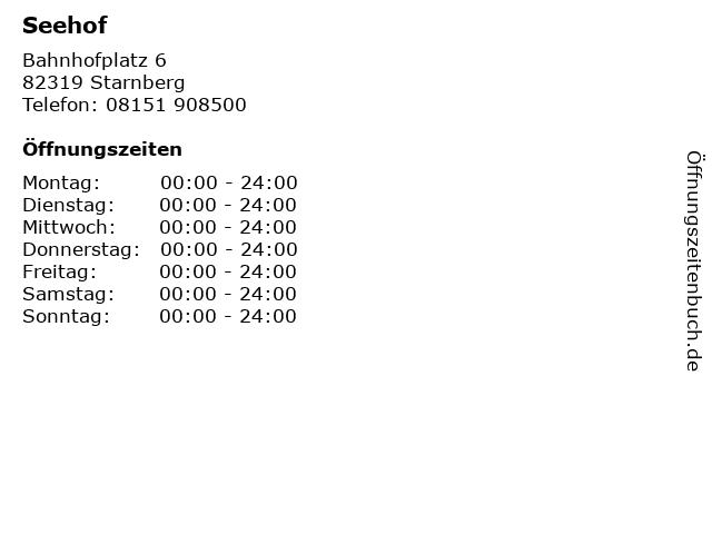 Seehof in Starnberg: Adresse und Öffnungszeiten