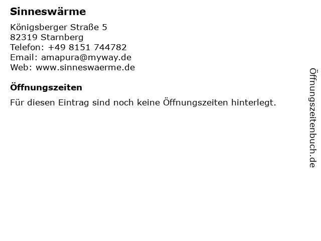 Sinneswärme in Starnberg: Adresse und Öffnungszeiten