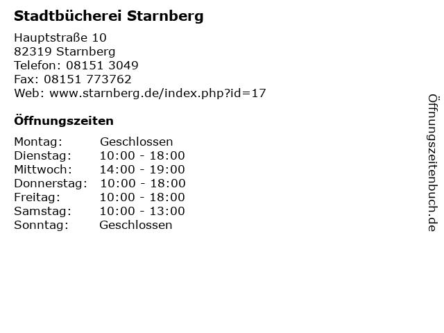 Stadtbücherei Starnberg in Starnberg: Adresse und Öffnungszeiten