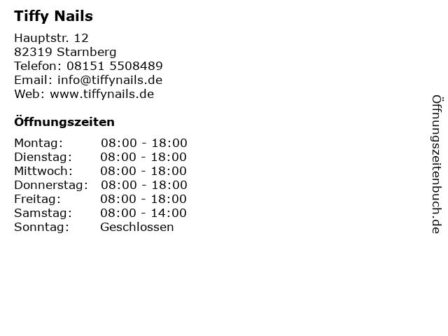 Tiffy Nails in Starnberg: Adresse und Öffnungszeiten