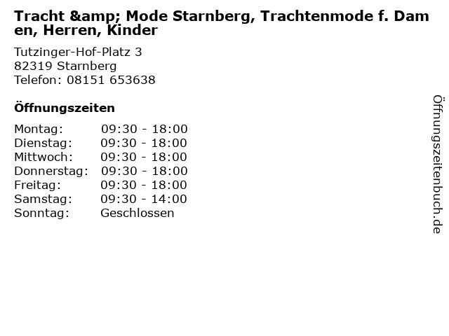 Tracht & Mode Starnberg, Trachtenmode f. Damen, Herren, Kinder in Starnberg: Adresse und Öffnungszeiten