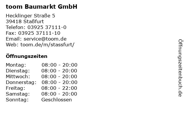 toom baumarkt staßfurt
