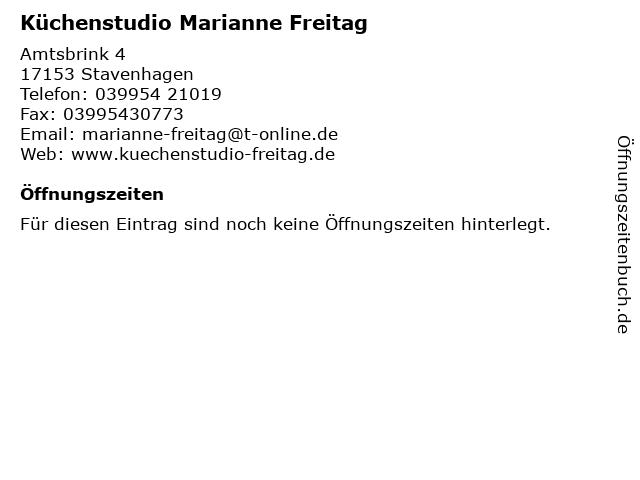 Küchenstudio Marianne Freitag in Stavenhagen: Adresse und Öffnungszeiten