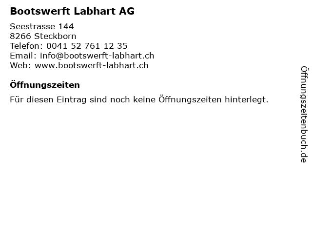 Bootswerft Labhart AG in Steckborn: Adresse und Öffnungszeiten