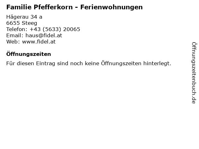 Familie Pfefferkorn - Ferienwohnungen in Steeg: Adresse und Öffnungszeiten
