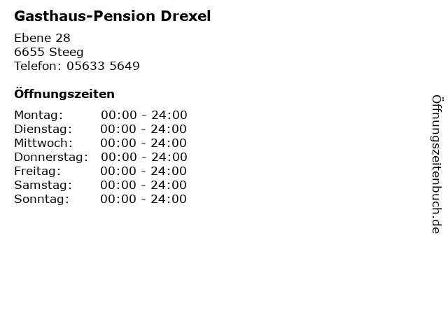 Gasthaus-Pension Drexel in Steeg: Adresse und Öffnungszeiten
