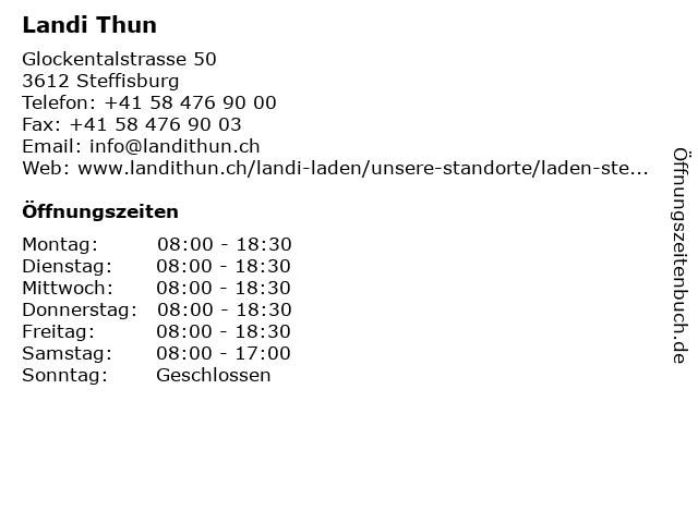 Landi Thun in Steffisburg: Adresse und Öffnungszeiten