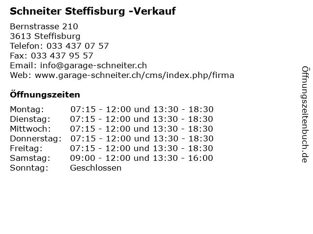 Schneiter Steffisburg -Verkauf in Steffisburg: Adresse und Öffnungszeiten