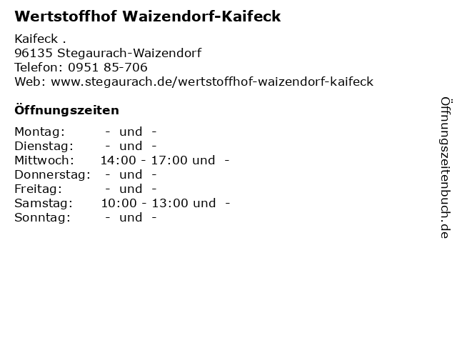 Wertstoffhof Uehlfeld