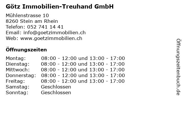 Götz Immobilien-Treuhand GmbH in Stein am Rhein: Adresse und Öffnungszeiten