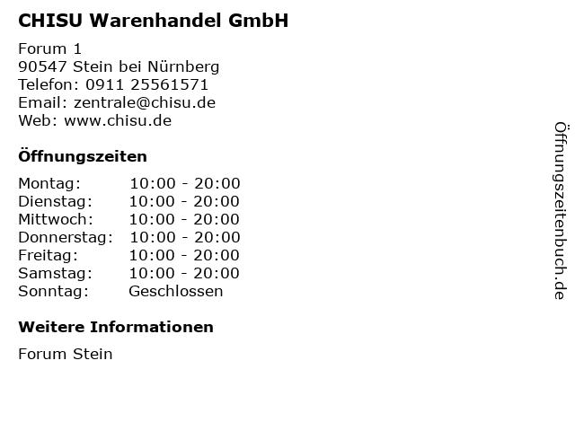 CHISU Warenhandel GmbH in Stein bei Nürnberg: Adresse und Öffnungszeiten