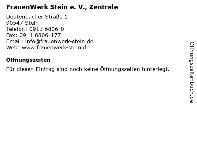 FrauenWerk Stein e. V., Zentrale in Stein: Adresse und Öffnungszeiten