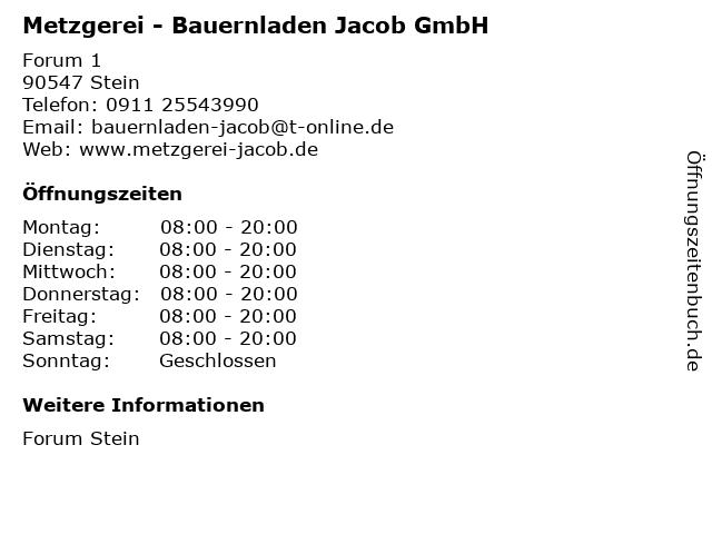 Metzgerei - Bauernladen Jacob GmbH in Stein: Adresse und Öffnungszeiten