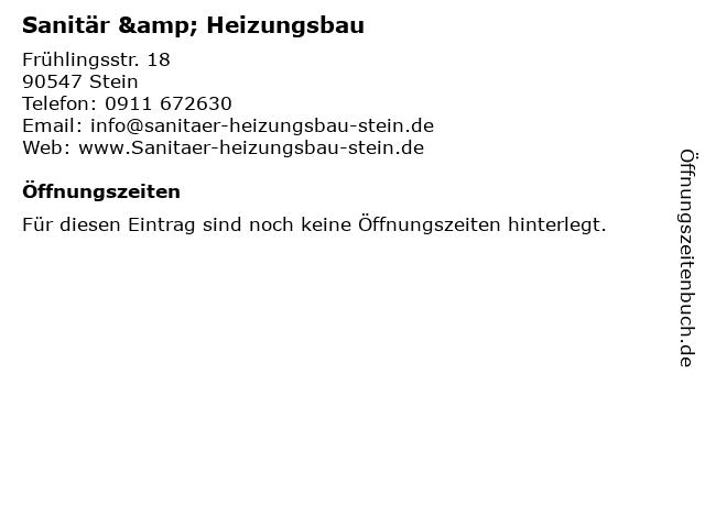 SHS Sanitär u. Heizungsbau Stein GmbH in Stein: Adresse und Öffnungszeiten