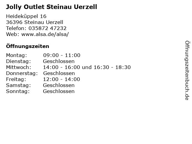 Jolly Outlet Steinau Uerzell in Steinau Uerzell: Adresse und Öffnungszeiten