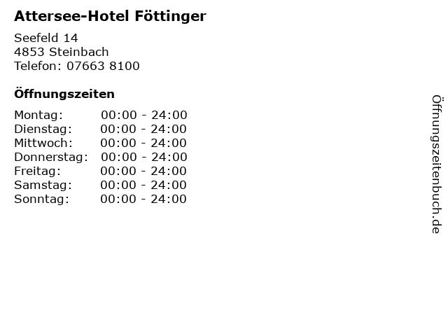 Attersee-Hotel Föttinger in Steinbach: Adresse und Öffnungszeiten
