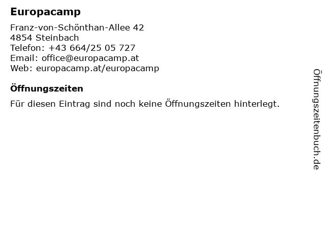 Europacamp in Steinbach: Adresse und Öffnungszeiten
