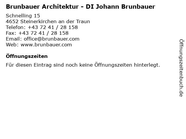 Brunbauer Architektur - DI Johann Brunbauer in Steinerkirchen an der Traun: Adresse und Öffnungszeiten