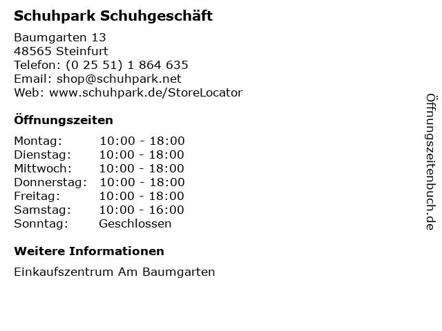 Schuhpark Fascies GmbH in Steinfurt: Adresse und Öffnungszeiten