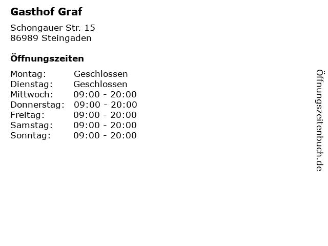 Gasthof Graf in Steingaden: Adresse und Öffnungszeiten