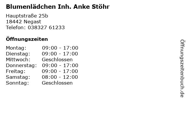Blumenlädchen Inh. Anke Stöhr in Steinhagen: Adresse und Öffnungszeiten