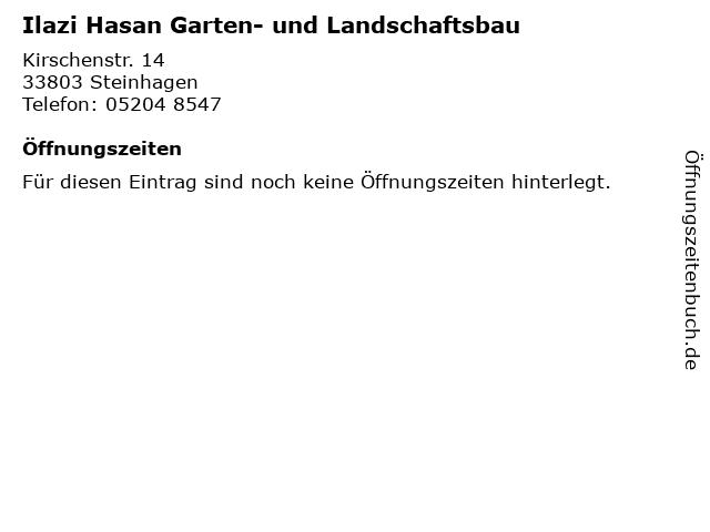Ilazi Hasan Garten- und Landschaftsbau in Steinhagen: Adresse und Öffnungszeiten