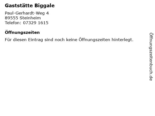Gaststätte Biggale in Steinheim: Adresse und Öffnungszeiten