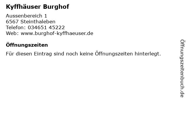 Kyffhäuser Burghof in Steinthaleben: Adresse und Öffnungszeiten
