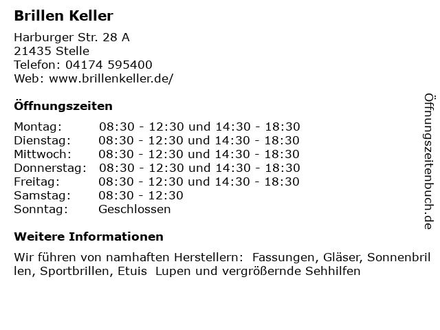Brillen Keller in Stelle: Adresse und Öffnungszeiten