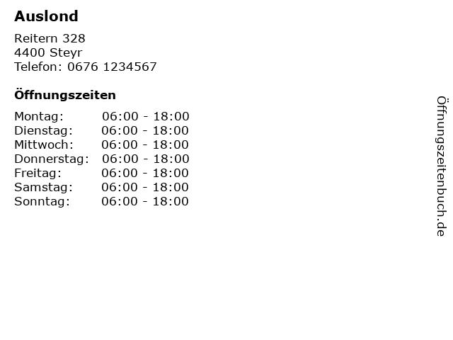 Auslond in Steyr: Adresse und Öffnungszeiten