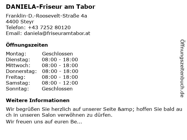 DANIELA-Friseur am Tabor in Steyr: Adresse und Öffnungszeiten