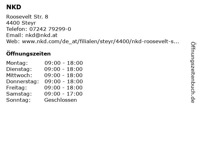 NKD in Steyr: Adresse und Öffnungszeiten