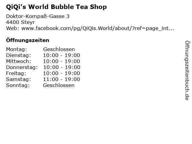 QiQi's World Bubble Tea Shop in Steyr: Adresse und Öffnungszeiten