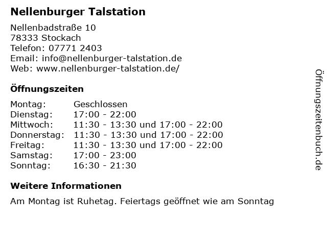Nellenburger Talstation in Stockach: Adresse und Öffnungszeiten