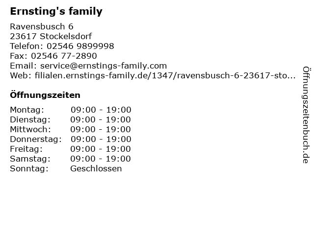 Ernsting's family GmbH & Co. KG in Stockelsdorf: Adresse und Öffnungszeiten