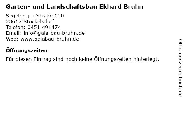 Garten- und Landschaftsbau Ekhard Bruhn in Stockelsdorf: Adresse und Öffnungszeiten