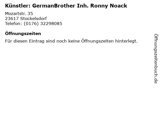 Künstler: GermanBrother Inh. Ronny Noack in Stockelsdorf: Adresse und Öffnungszeiten