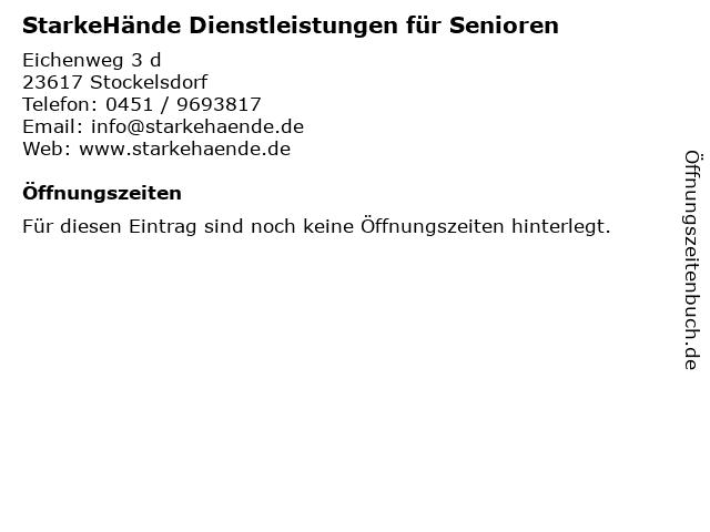 StarkeHände Dienstleistungen für Senioren in Stockelsdorf: Adresse und Öffnungszeiten