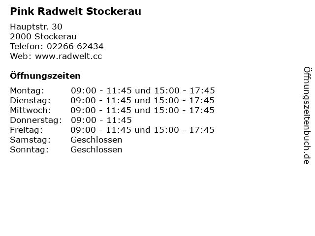 Pink Radwelt Stockerau in Stockerau: Adresse und Öffnungszeiten