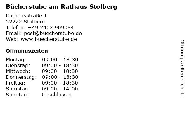 Bücherstube am Rathaus in Stolberg: Adresse und Öffnungszeiten