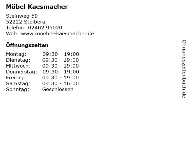 ᐅ öffnungszeiten Möbel Kaesmacher Steinweg 59 In Stolberg