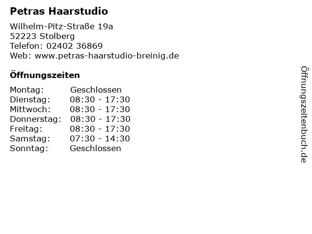 Petras Haarstudio in Stolberg: Adresse und Öffnungszeiten